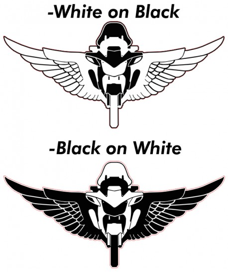 MOTORWINGS WINDOW DECALS - THIN BLUE LINE FAMILY