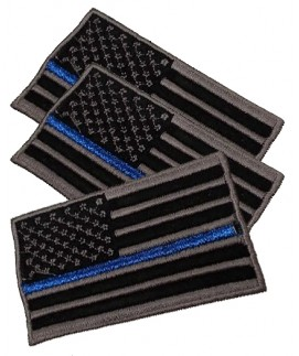 THIN BLUE LINE FAMILY FLAG SEW ON PATCH