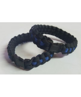 PARACORD THIN BLUE LINE BRACELET