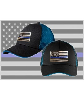 THIN BLUE LINE FAMILY MESH HAT w/SNAP BACK
