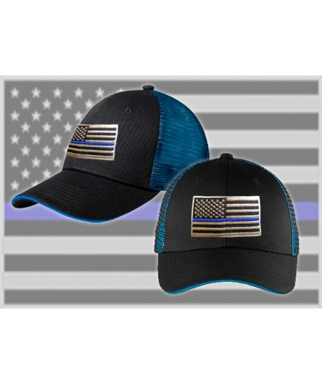 THIN BLUE LINE MESH HAT w/SNAP BACK