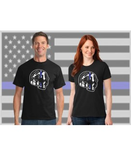 THIN BLUE LINE FAMILY SKULL DRI-FIT