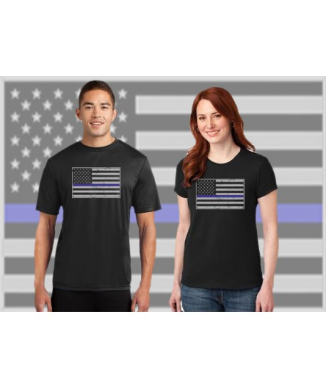 THIN BLUE LINE FAMILY FLAG DRI-FIT