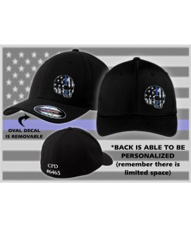 FLEXFIT - THIN BLUE LINE SKULL HAT