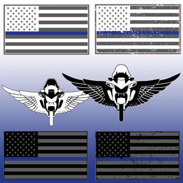 Thin Blue Family Decals