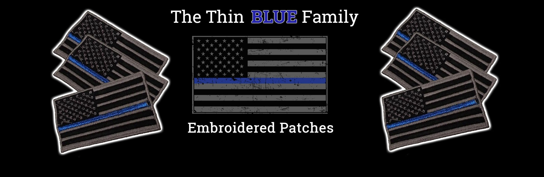 Thin Blue Line Family Patches